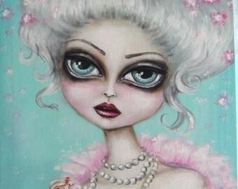 INFATUATION big eye victorian fairy gothic  limited edition print
