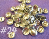 100 Cover Buttons - 5/8 inch - Size 24 wire backs/loop backs covered buttons notion supplies diy refill