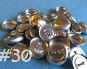 SALE - 100 Cover Buttons - 3/4 inch - Size 30 wire backs/loop backs covered buttons notion supplies diy refill