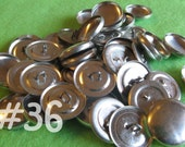 25 Covered Buttons - 7/8 inch - Size 36 wire backs/loop backs covered buttons notion supplies diy refill