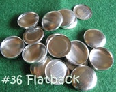 50 Cover Buttons FLAT BACKS - 7/8 inch - Size 36  flat backs no loops covered buttons notion supplies diy refill