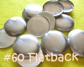 100 Covered Buttons FLAT BACKS - 1 1/2 inches - Size 60  flat backs no loops cover buttons notion supplies diy refill