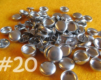 50 Cover Buttons - 1/2 inch - Size 20 wire backs/loop backs covered buttons notion supplies diy refill