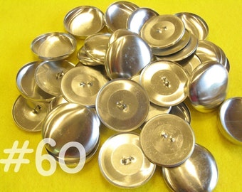 25 Cover Buttons - 1 1/2 inches - Size 60 wire backs/loop backs covered buttons notion supplies diy refill