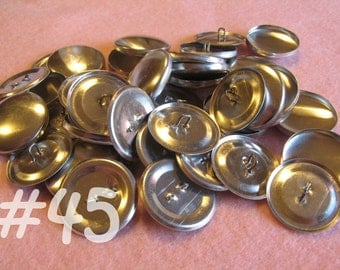 12 Covered Buttons - 1 1/8 inches - Size 45 wire backs/loop backs covered buttons notion supplies diy refill