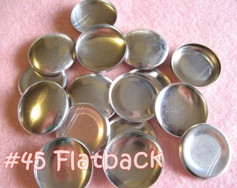 100 Covered Buttons FLAT BACKS - 1 1/8 inches - Size 45  flat backs no loops cover buttons notion supplies diy refill