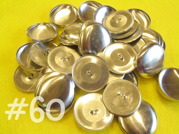 25 Covered Buttons - 1 1/2 inches - Size 60 wire backs/loop backs covered buttons notion supplies diy refill