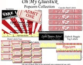 Popcorn and a Movie Party by Oh My Gluestick - Full Printable Collection
