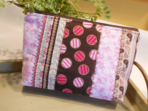 SPECIAL of the DAY - Quilted Flat Bottom--Padded Zipper Pouch