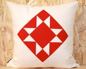 Sawtooth Star Pillow Cover in Off-white