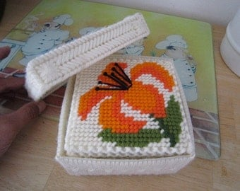 Spring Flower Crochet Coaster Set