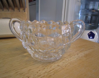 Fostoria American Crystal Open Sugar Bowl