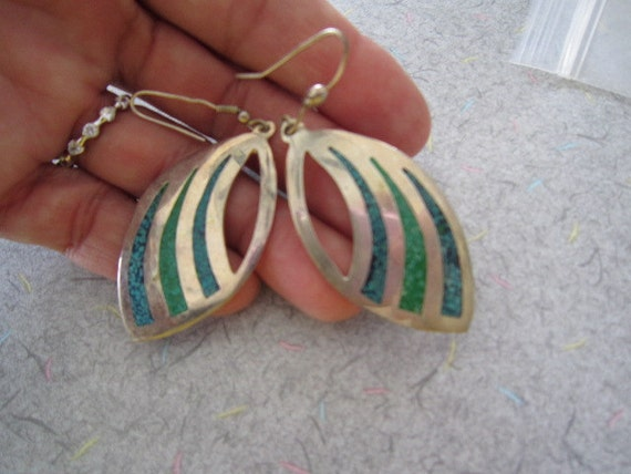 Mexico Alpaca Leaf Shape Earrings