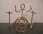 Copper Figure Drummer Dude