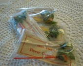 Vintage Flower Cocktail, Hors D'oeuvre Picks, Set of 8, Never Used