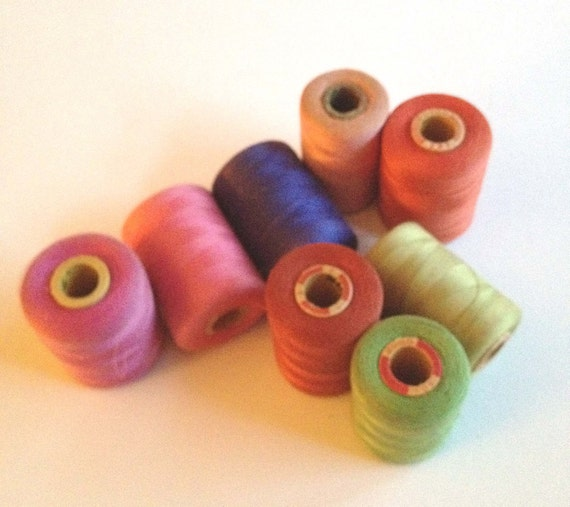 RESERVE  FOR Kimbydesign - Vintage Spools of Thread - 16000 Yards