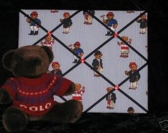 ABC Message Photo Board Ralph Lauren Polo Teddy Fabric