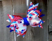 Stars and Hearts Layered Bow