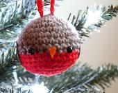 Cute Robin Christmas Tree Decoration