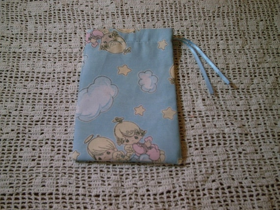 CLERANCE   Precious Moments Angels in the Clouds Drawstring Pouch