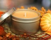 8oz PUMPKIN SOUFFLE Soy Candle Travel Tin