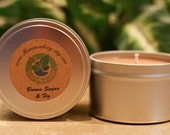 8oz BROWN SUGAR and FIG Soy Candle Travel Tin (Bath and Body Works type)