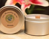 8oz LAVENDER Wood Wicked Soy Candle Travel Tin