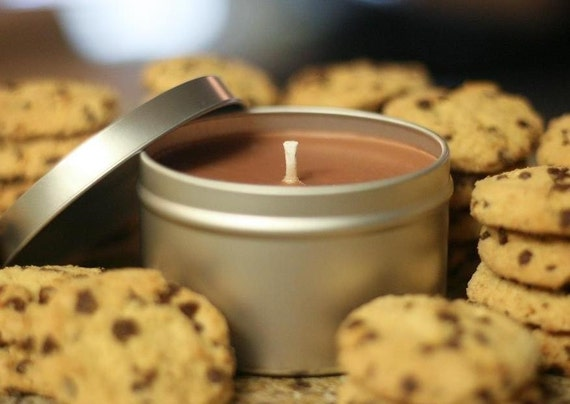 8oz CHOCOLATE CHIP COOKIES  Soy Candle Travel Tin