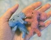 Blue & Pink Elephant Couple