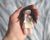 Little Black Pigtails Pose Doll