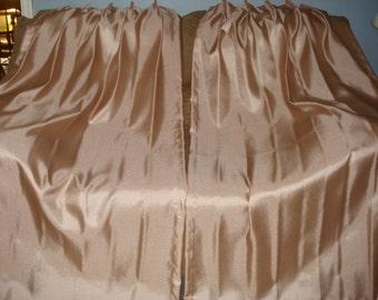 VINTAGE SAMON fiberglass pleated curtain drapes 2 panels