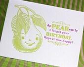 Belated Birthday Letterpress Card