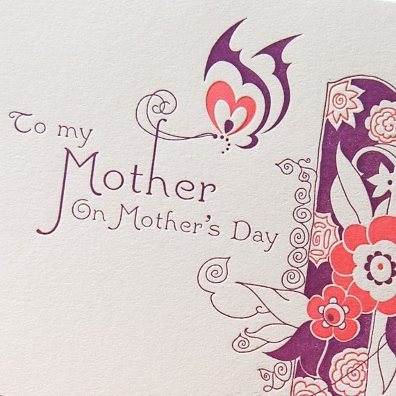 Mothers Day letterpress card for the best Mother