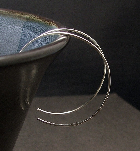 1.5 inch hoop earrings in sterling silver