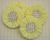 4 Sunny Yellow Crepe Paper Flowers