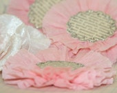 Large Light Pink Crepe Paper Flowers