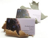 Business card holder - maple leaf, only gold remaining