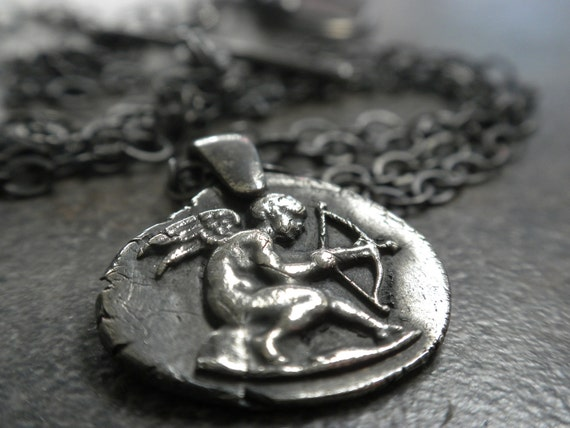 Cupid Wax Seal Pendant Necklace