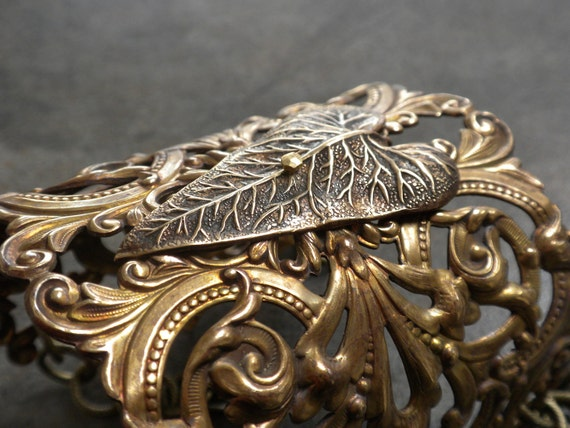 Wide Brass Heart Cuff Bracelet