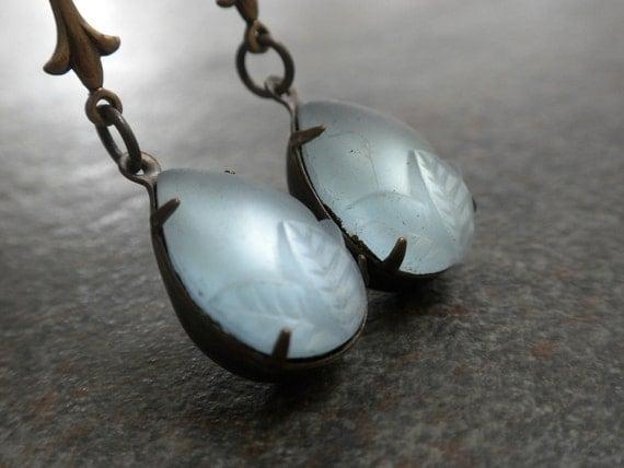 Ice Blue Teardrop Earrings