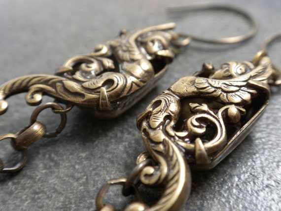Art Deco Earrings with Niobium Wires