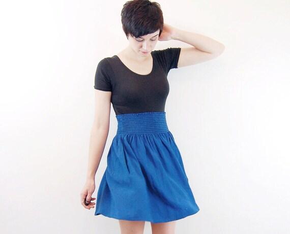 Teal Elastic Waist Skirt - S/M