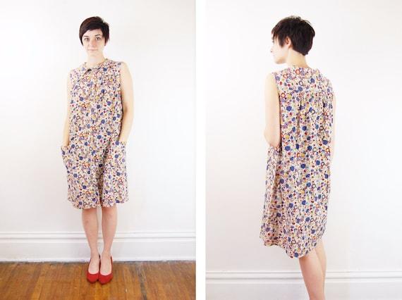 1970s Floral House Dress - S/M