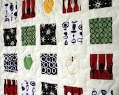 modern kitchen - - mini window wall hanging quilt