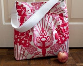 diaper bag in floral nouveau bouquet canvas // overnight bag // floral cross body bag // READY TO SHIP // summer fashion // the bravo bag