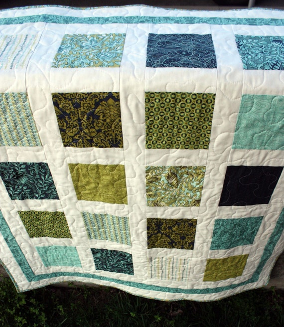 RESERVED for jessica - - under the sea - - baby boy window wall hanging quilt with neptune fabric by tula pink for moda