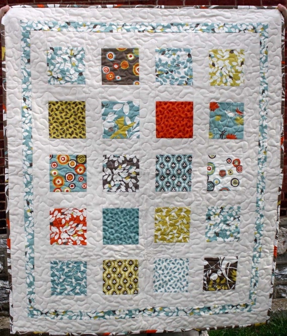 SALE baby window wall hanging quilt with by olivetreetextiles