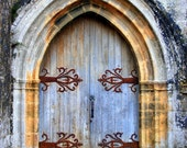 Photo Print Blue Castle Door France 5X7 Fine Art