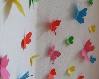 Butterfly flying wall stickers - Set of 35 - FREE SHIPPING