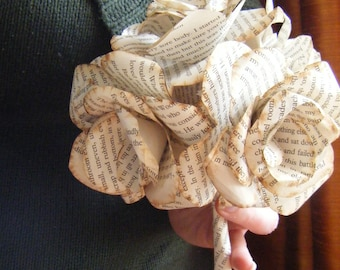 Book Paper Bridal Wedding Bouquet bridal bouquet